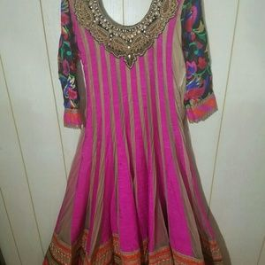 Indian pakistani anarkali dress gown